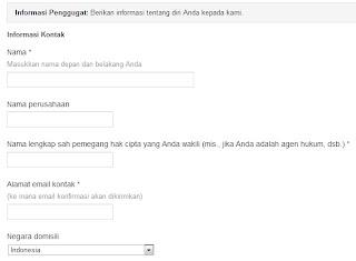 Google DMCA_info pelapor