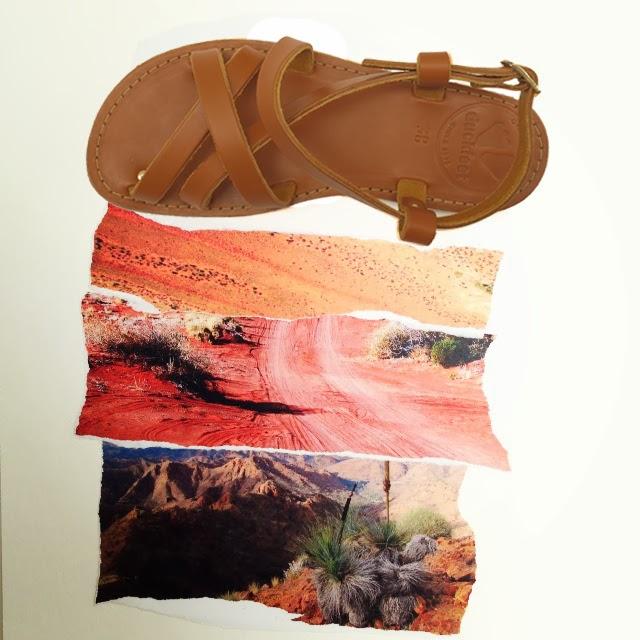 leather sandal, desert, gypsy style