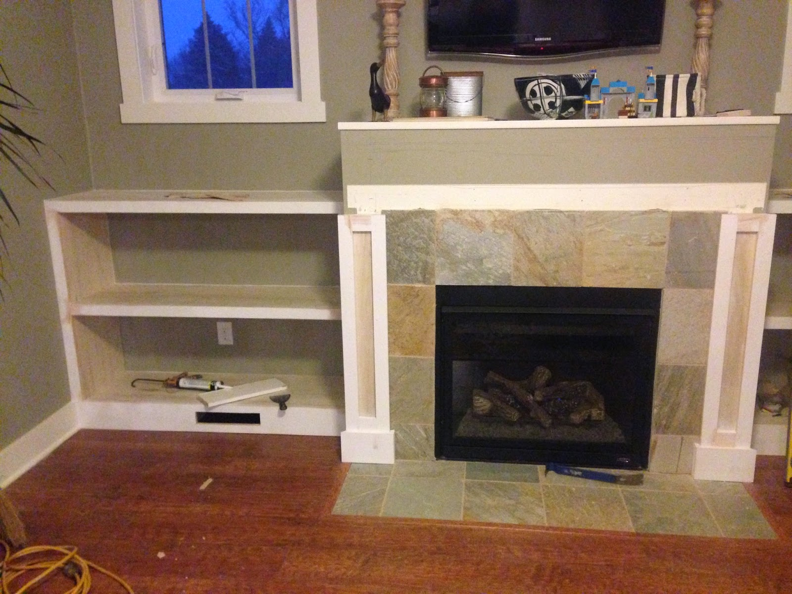 february white built i fireplace tree in with hugger friday married a shelves trim