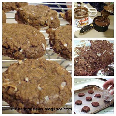 Nutella cookies are easy chocolate cookies with a soft, chewy texture