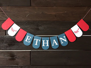 Airplane Party Name Banner