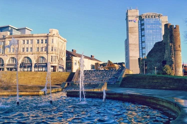 Swansea Castle Square City pantomime fun
