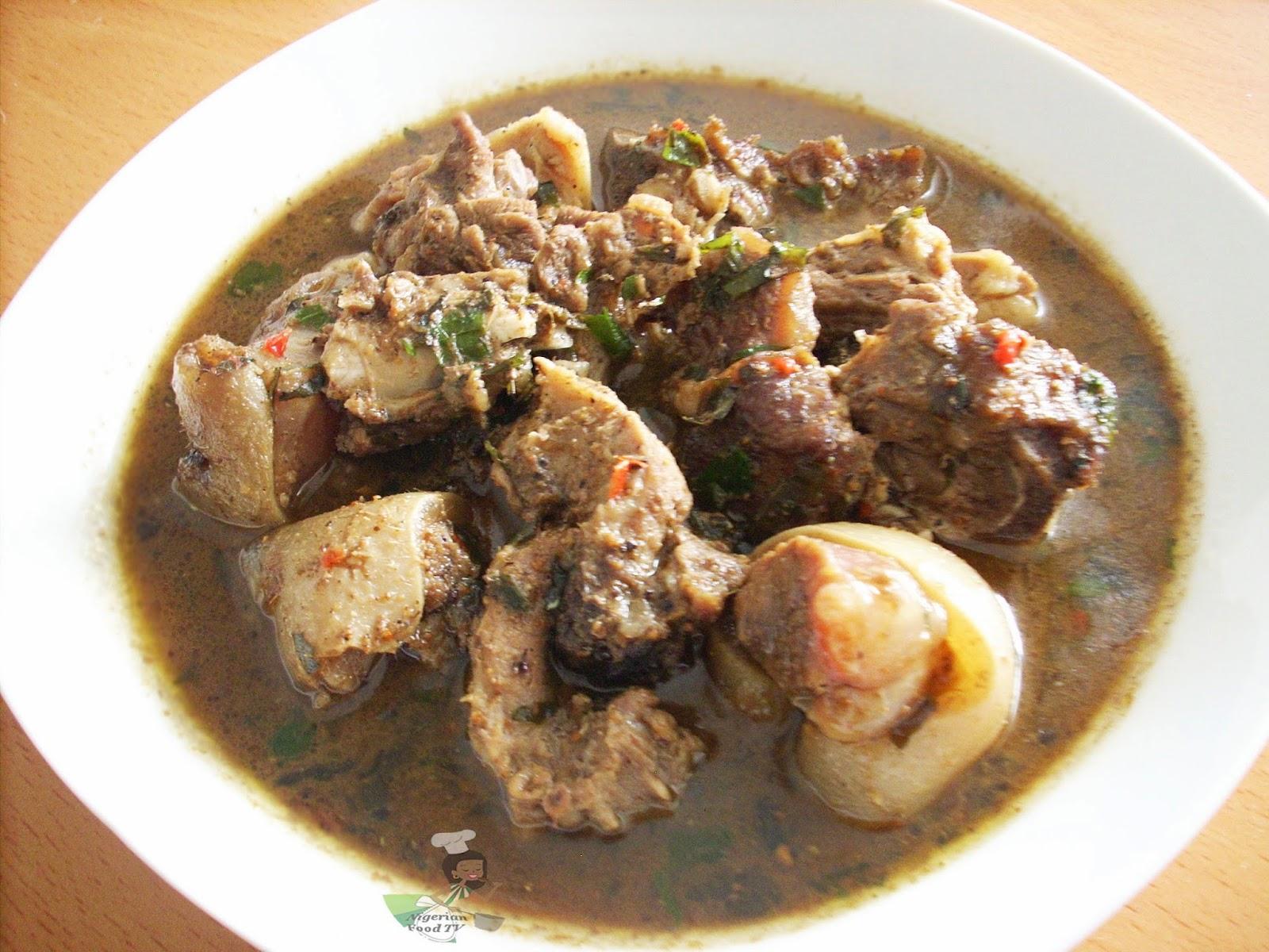 Nigerian goat meat pepper soup, Nigerian Food recipes, Nigerian Food TV