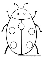 lady bug insect coloring pages to print
