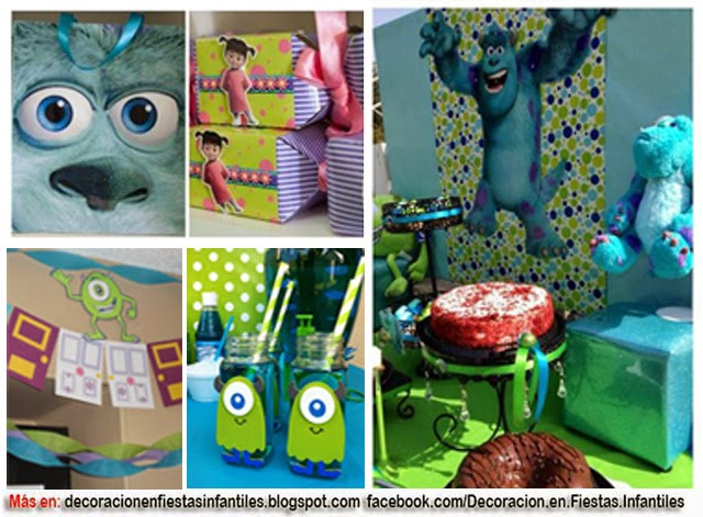 DECORACIÓN FIESTA MONSTER INC.