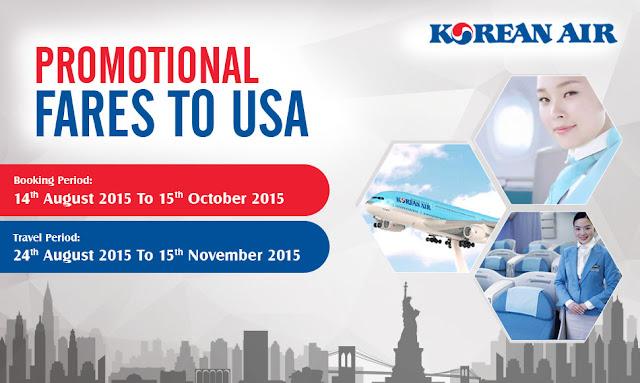 KOREAN AIRLINES PORMOTIONAL FARES TO USA