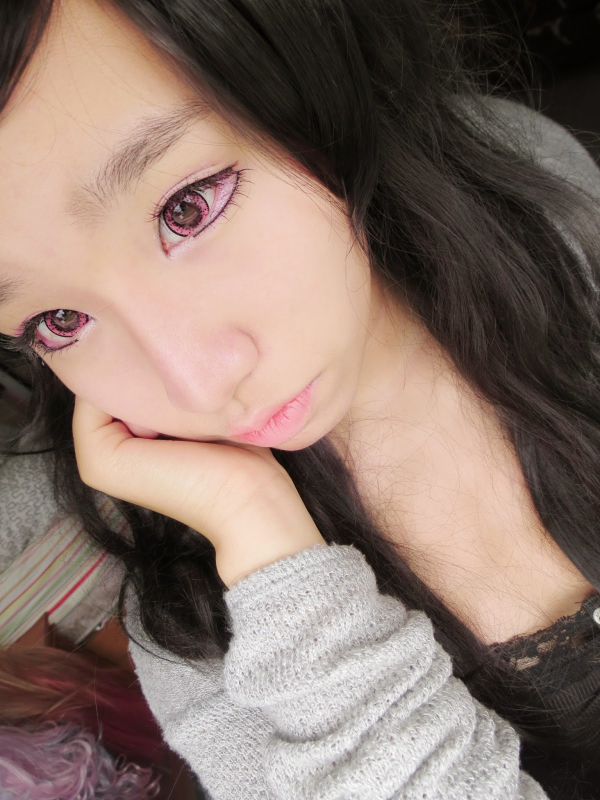 Make a Cute yet Edgy Appearance this Halloween with Beuberry Teddy Bear Pink Lenses