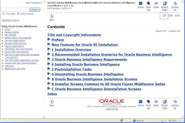 Oracle Business Intelligence (BI) Blog: PDF dumps for OBIEE 11g ...
