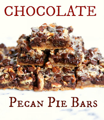 Chocolate Pecan Pie Bars, shared by Oh Mrs. Tucker