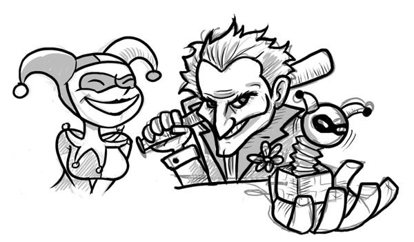 Dibujos de Joker ~ Vida Blogger