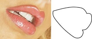 kata tutorial corel draw/gambar bibir