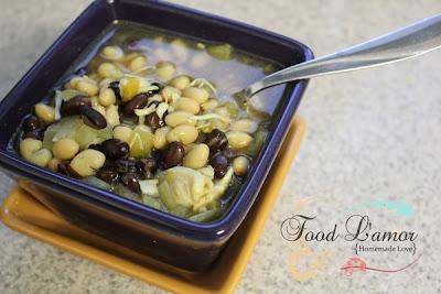 {Homemade} White Bean Chili