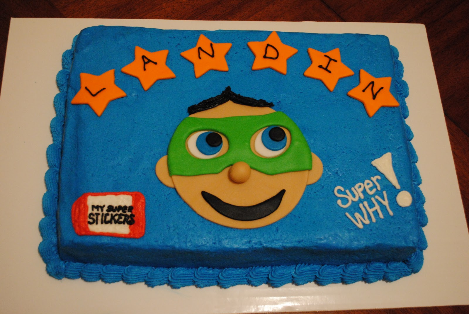 Maureens Cakes More Smurf Cupcakes Super Why Cake