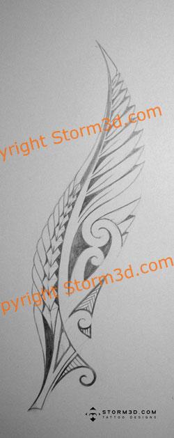 tattoo blog maori fern tattoo with koru swirls. Black Bedroom Furniture Sets. Home Design Ideas