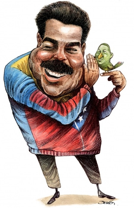 Maduro political cartoon, Chavez is a bird,chavez bird