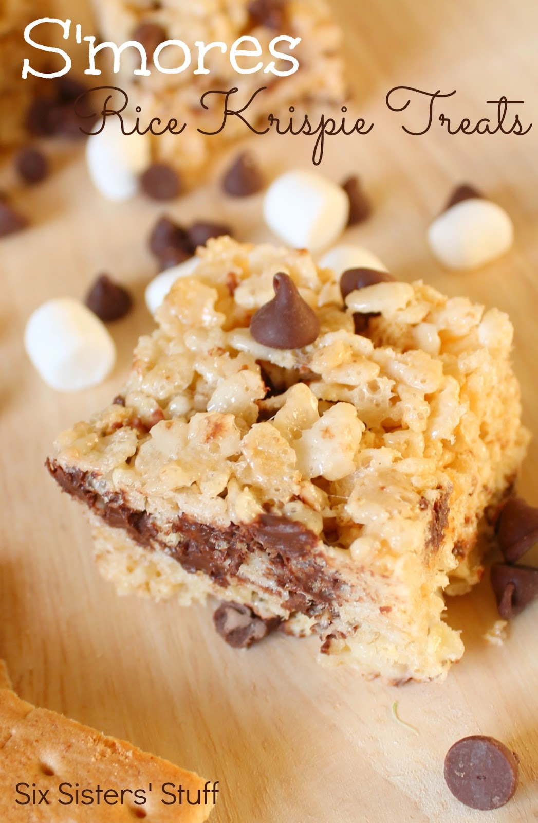 mores Rice Krispie Treats Recipe | Six Sisters' Stuff