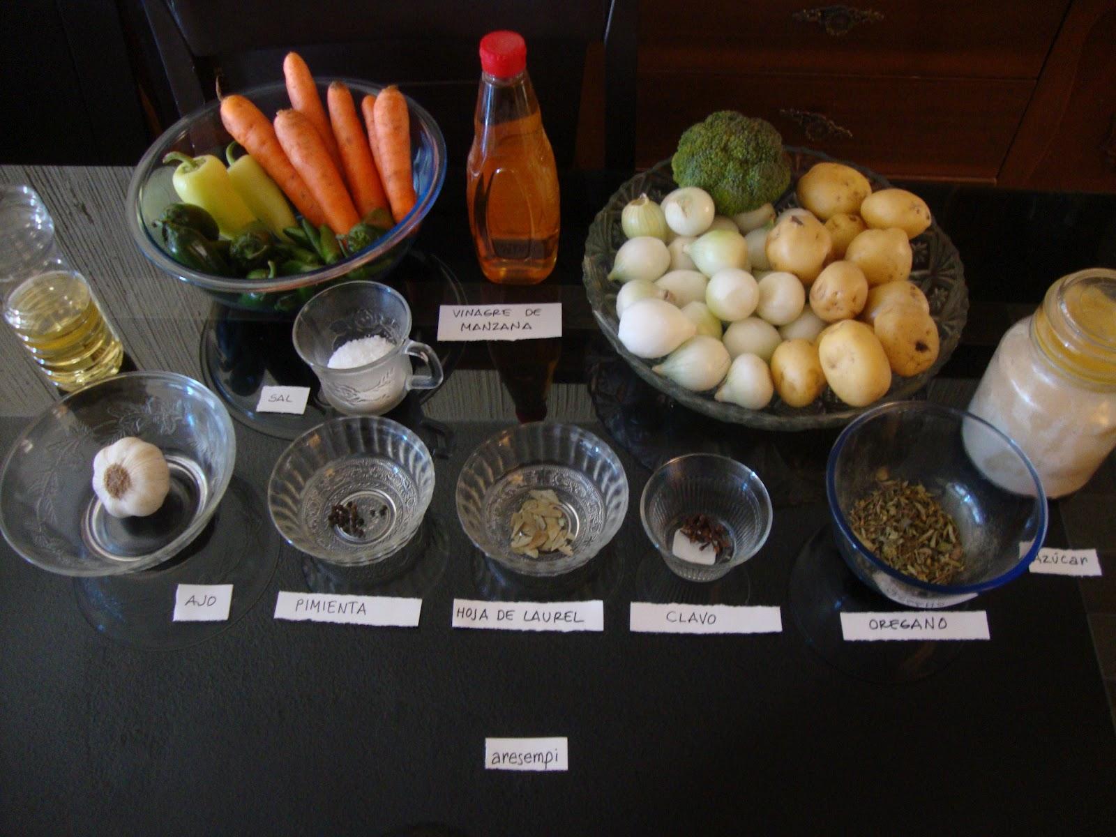 vinagre preparacion:
