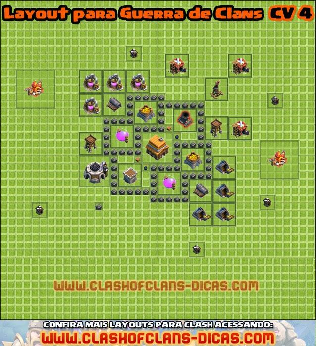 cv 4 layout clan wars - Layout Cv 4 Guerra