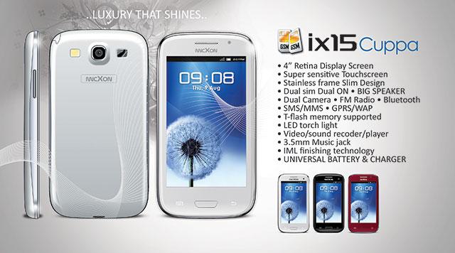 Micxon ix15 Cuppa, HP Android Lokal,Retina Display,Mirip Samsung Galaxy S3,Dual Sim, HP Cina