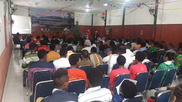 Mahasisa Intan Jaya Sukses Merayakan Natal dan Seminar Bersama di Bandung Jawa barat
