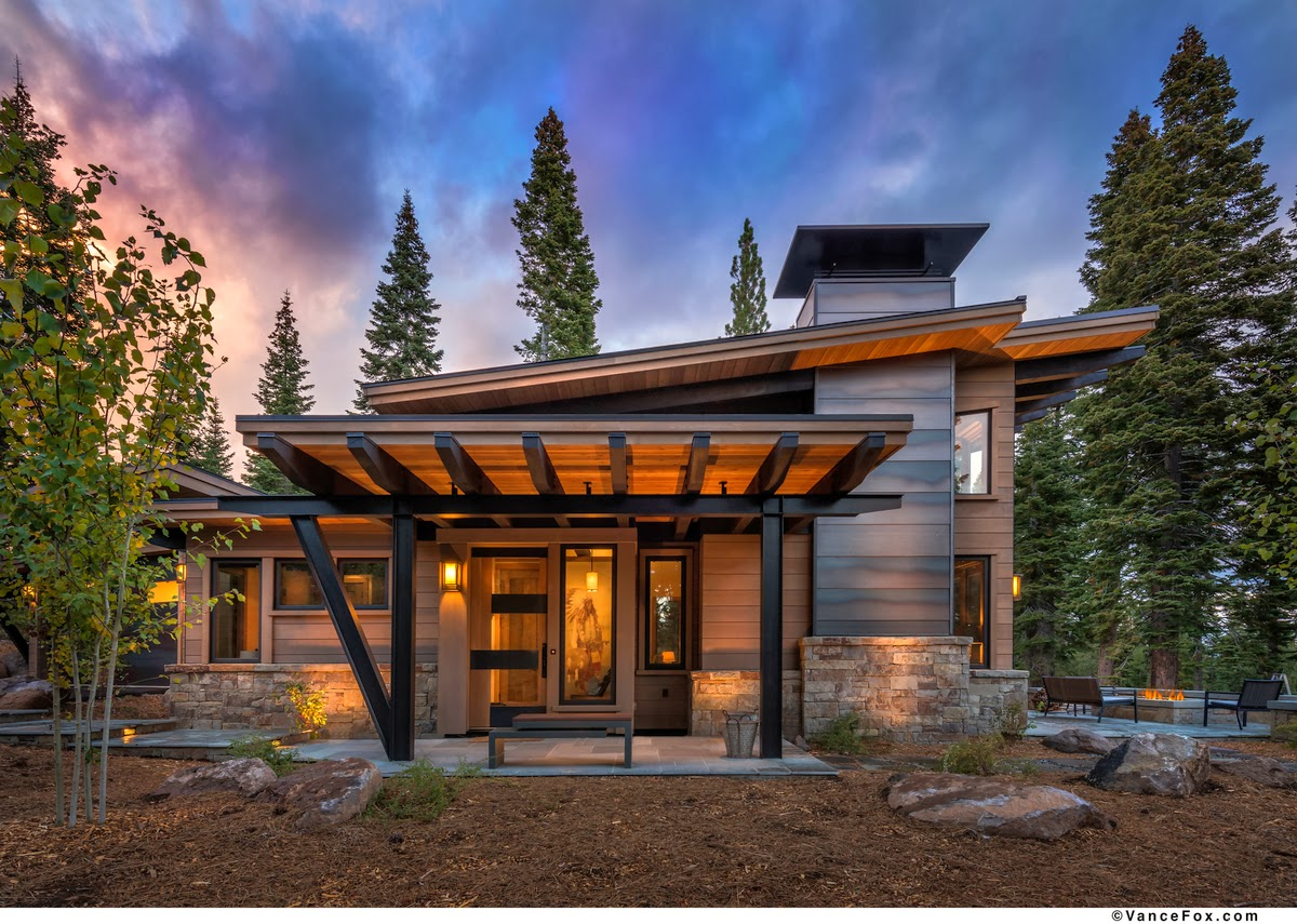 Katie talks tahoe just listed contemporary guest home at for Mountain modern architecture
