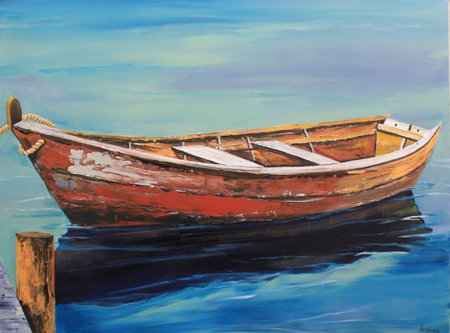 Paintings by tracy effinger upton old boat for What to do with an old boat