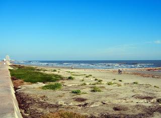 The beach on Galveston Island