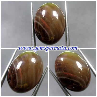 B119 Batu Akik Lapis Sulaiman Coklat - Batu Akik
