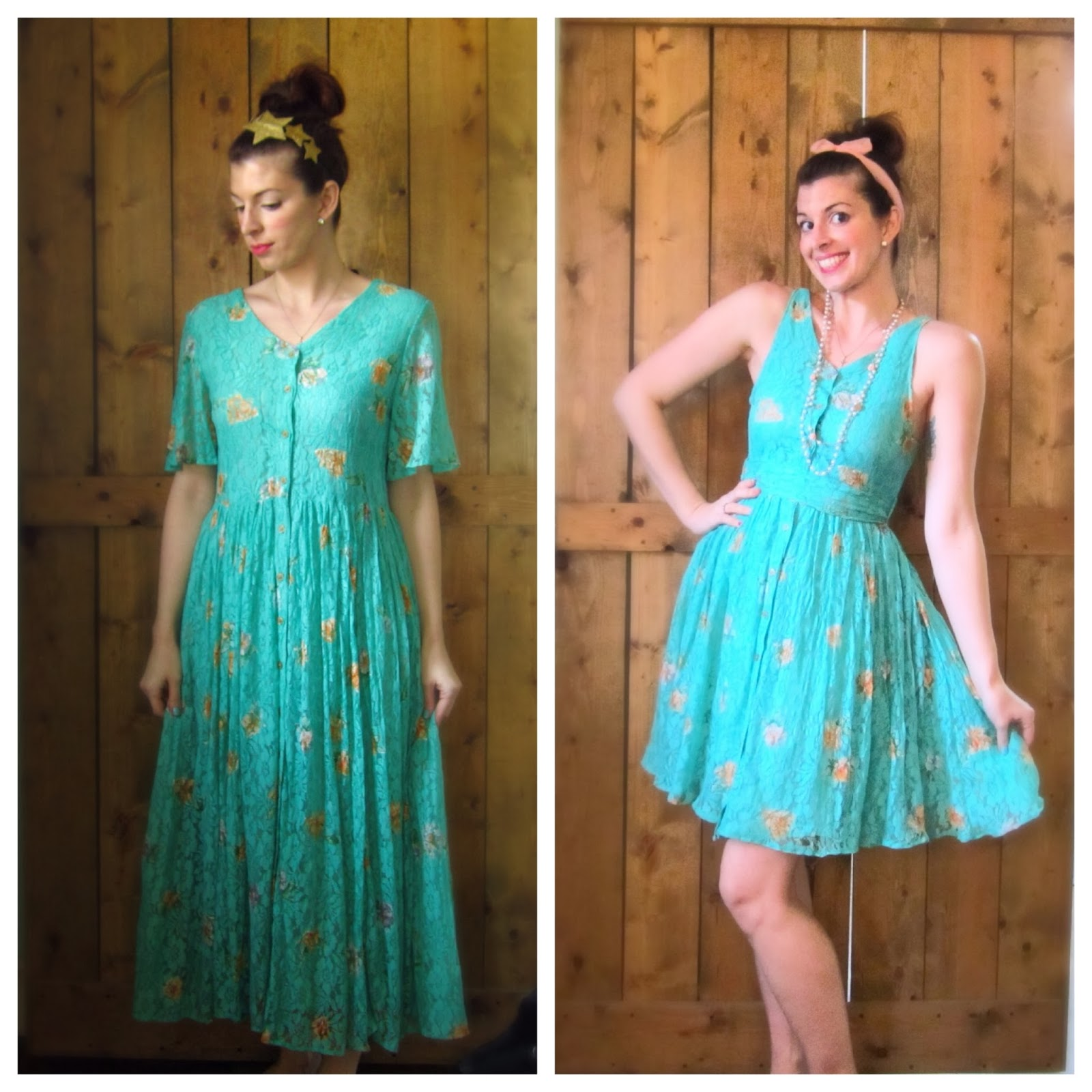 refashion a vintage dress