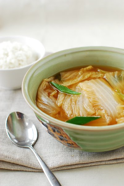 Baechu Doenjang Guk (Korean Soybean Paste Soup with Napa ...