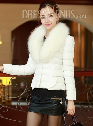 Smart Slim Long Sleeves Large Fur Collar Sunny Handsome Short Down Cotton Coat