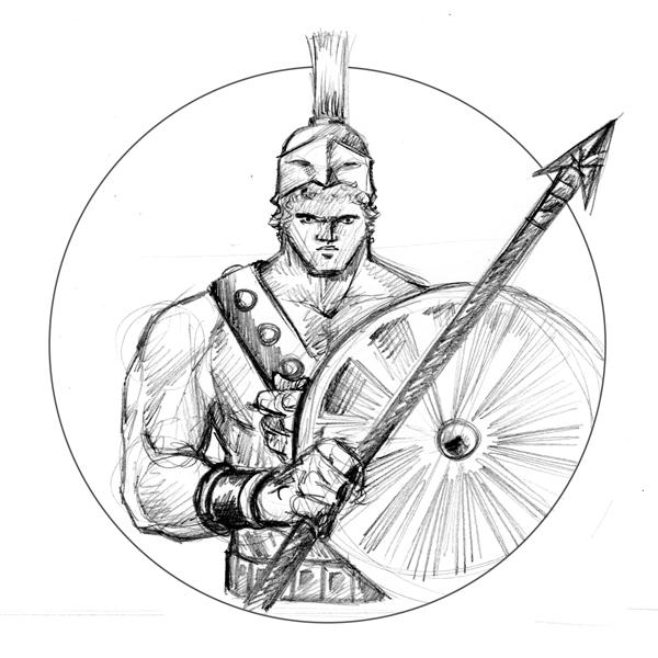 Greek God Ares Drawing Drink'N'Draw PARIS: Gr...