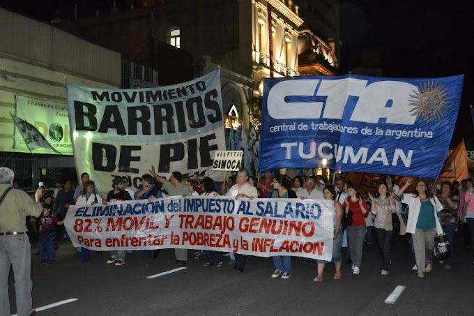 Tucumán: Una Multitudinaria Marcha Acompañó el Paro de la CTA