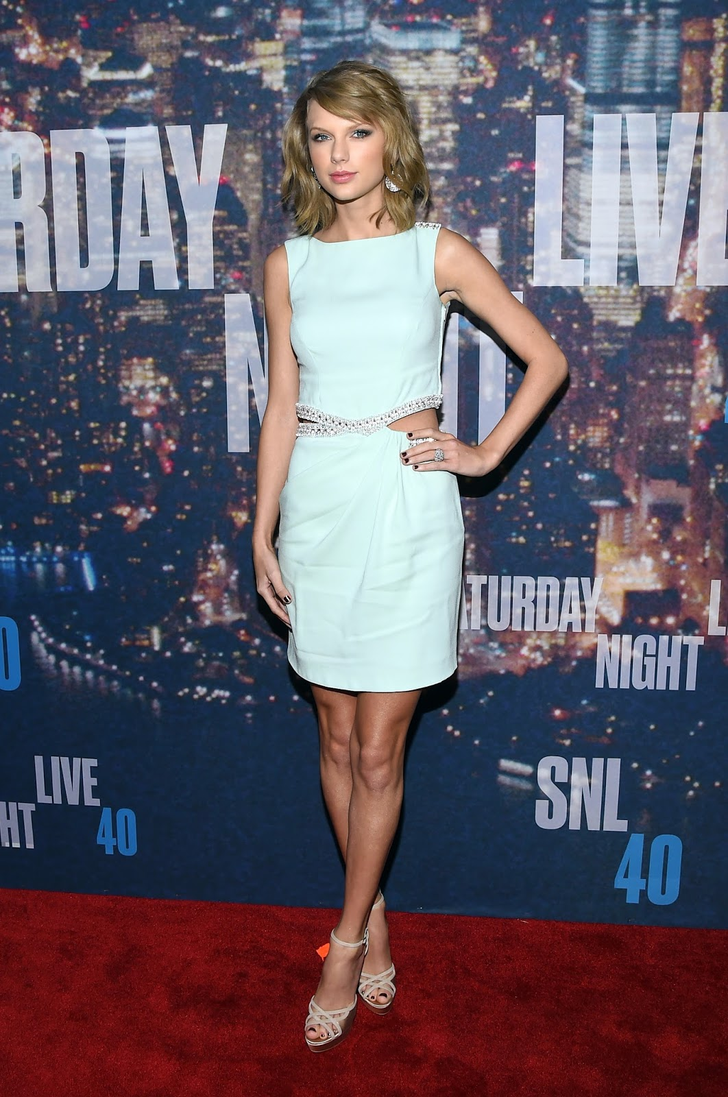 Singer-Songwriter , Record Producer , Actress, Fashion Model: Taylor Swift - SNL 40th Anniversary Celebration in NY