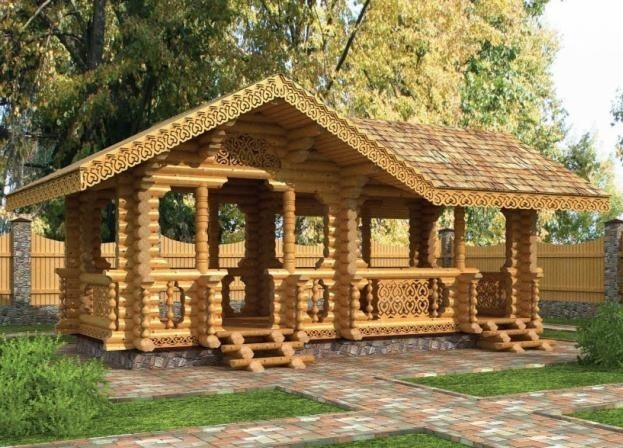 tonnelles gazebo en bois photos. Black Bedroom Furniture Sets. Home Design Ideas