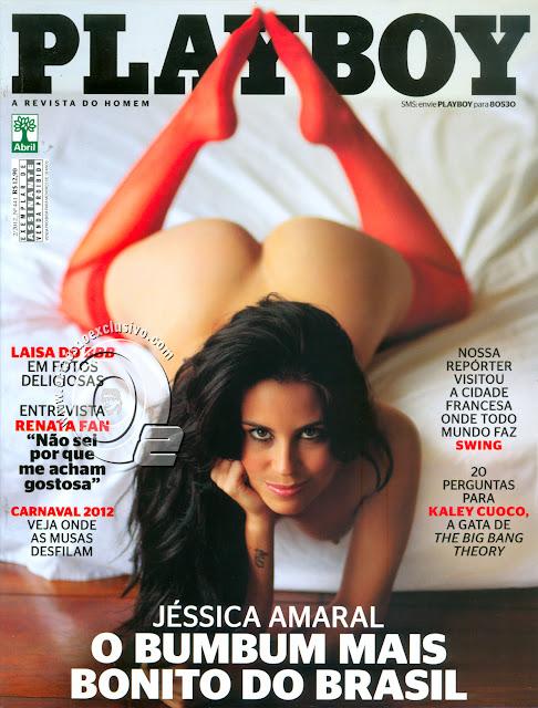 Confira as fotos do bumbum mais bonito do Brasil, Jéssica Amaral, capa da Playboy de fevereiro de 2012!