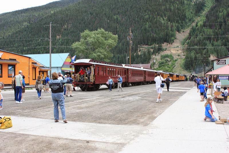 Train in Downtown Silverton, Colora