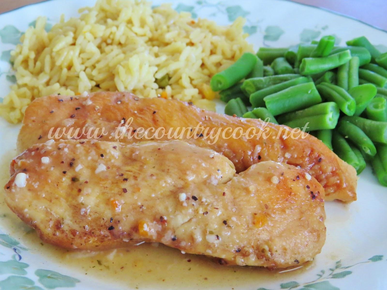 Crock Pot Lemon Garlic Chicken - The Country Cook