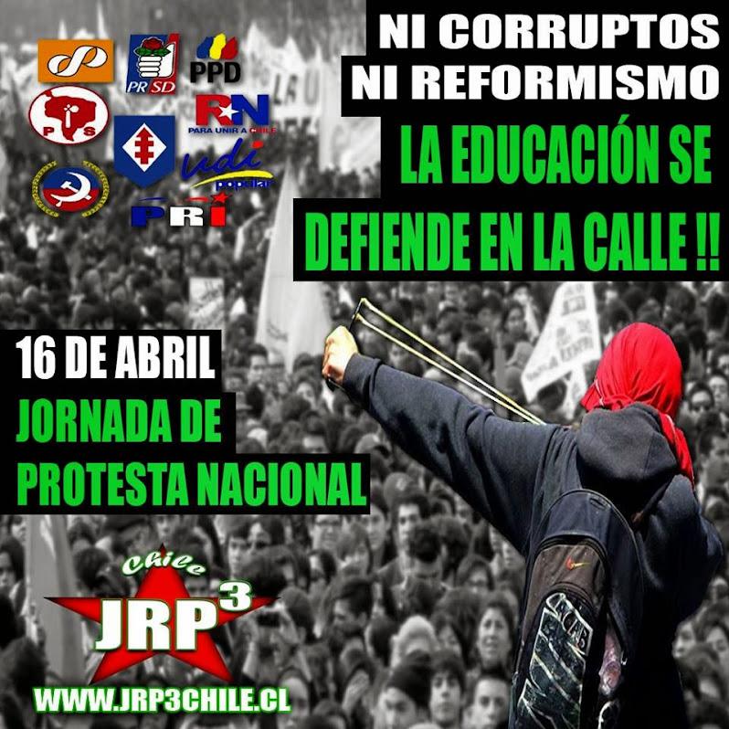 16 DE ABRIL, JORNADA DE PROTESTA NACIONAL