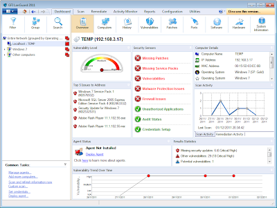 GFI LANguard Network Security Scanner (N.S.S.) is a complete network vulner