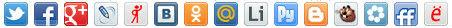 Кнопки социальных сетей от сервиса Share42