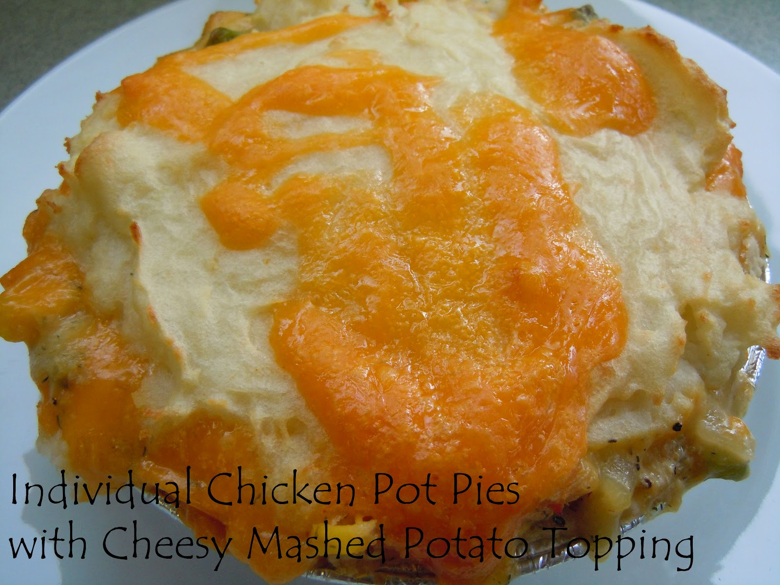 ... Things: Individual Chicken Pot Pies with Cheesy Mashed Potato Topping