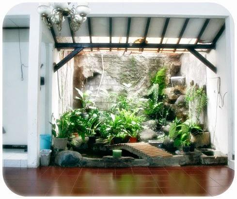 desain taman di dalam rumah 2