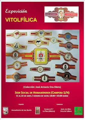 Cartel Exposición de Vitolas de José Antonio Oca