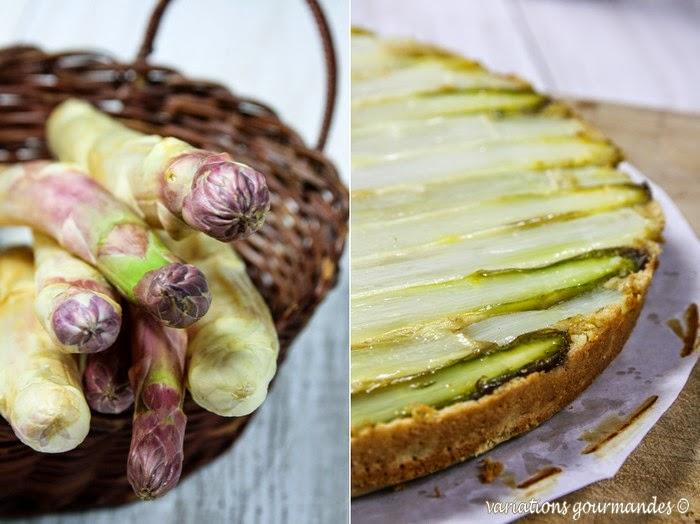Variations gourmandes fin g teau d 39 asperges vinaigrette - Comment cuisiner les asperges blanches ...