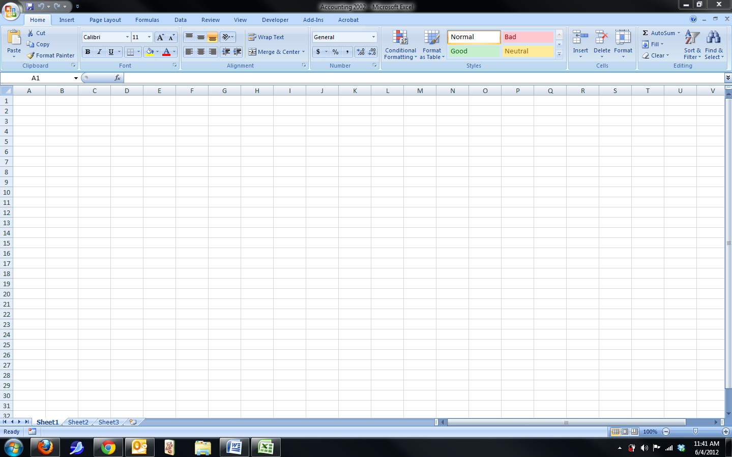 MS Excel Tips and Tricks: A look at the Main Workbook in Excel 2007