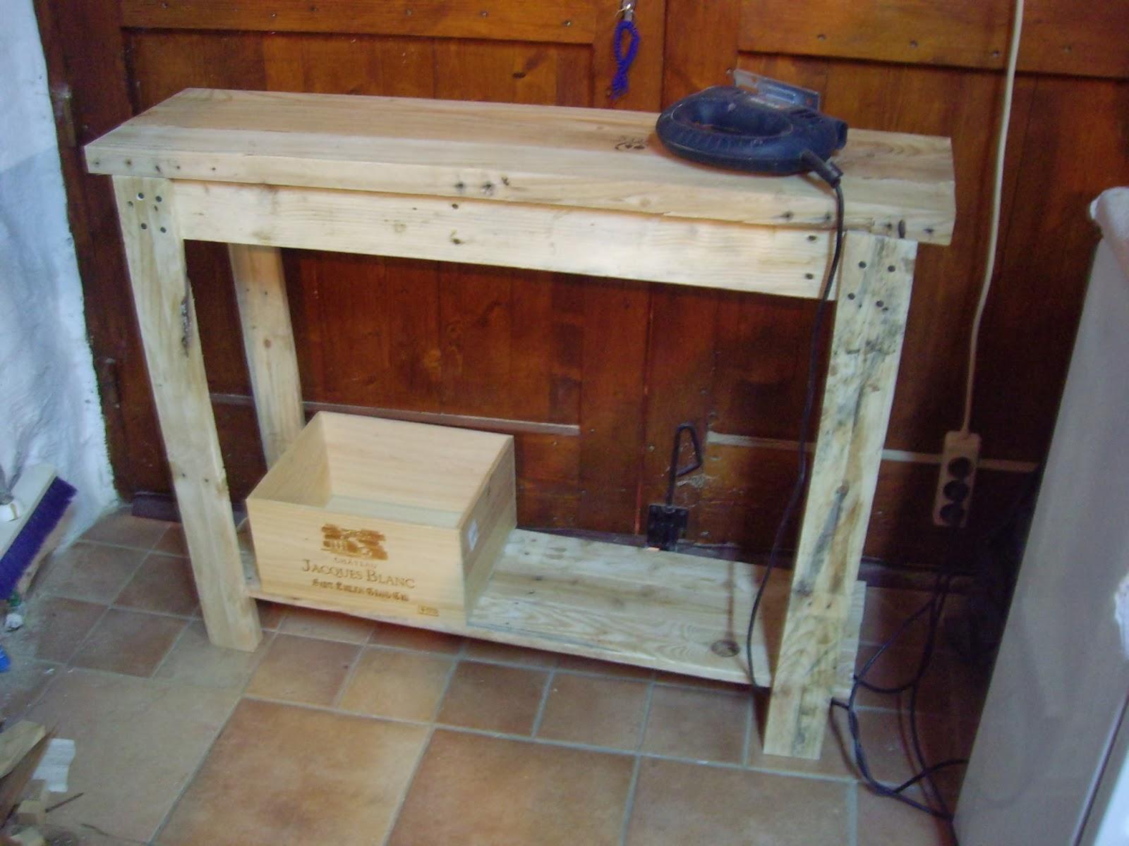 Objets d co tutoriels et meubles en bois de palettes console en bois de palette Meuble en bois de palette