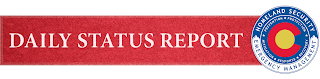 Colorado Daily Status Report Banner with DHSEM Logo