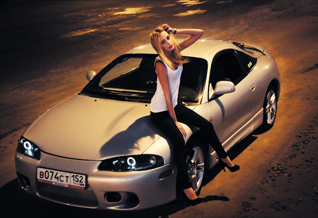 Mitsubishi Eclipse 2G, laski, panienki, kobiety, samochody, auta