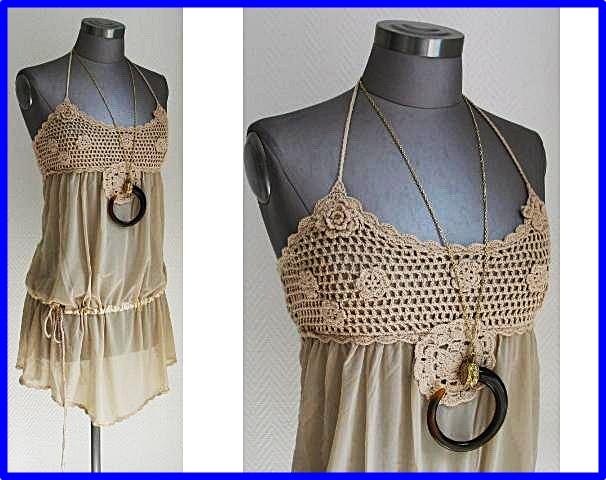 Vestidos de crochet y tela para mujeres